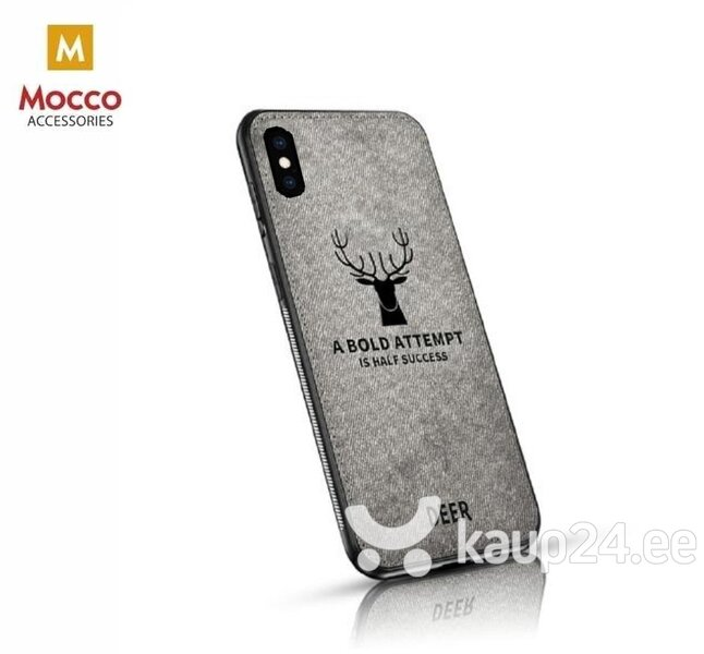 Mocco Deer Silicone Back Case for Apple iPhone XS / X Grey (EU Blister) hind ja info | Telefoni kaaned, ümbrised | kaup24.ee