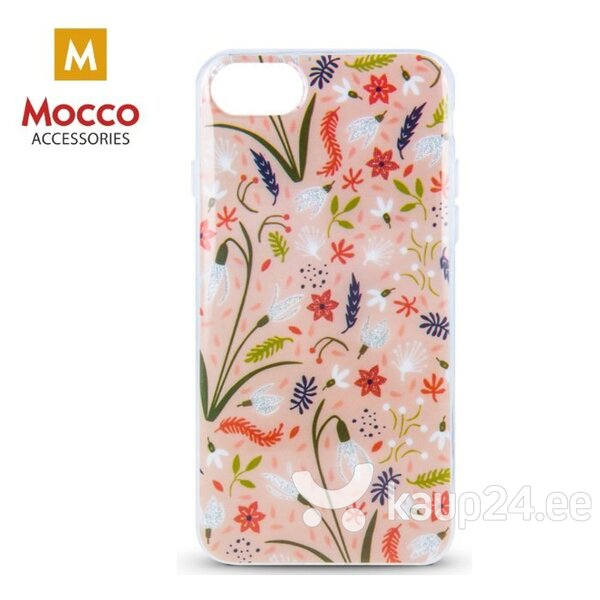 Mocco Spring Case Silicone Back Case for Apple iPhone X / XS Pink ( White Snowdrop ) hind ja info | Telefoni kaaned, ümbrised | kaup24.ee