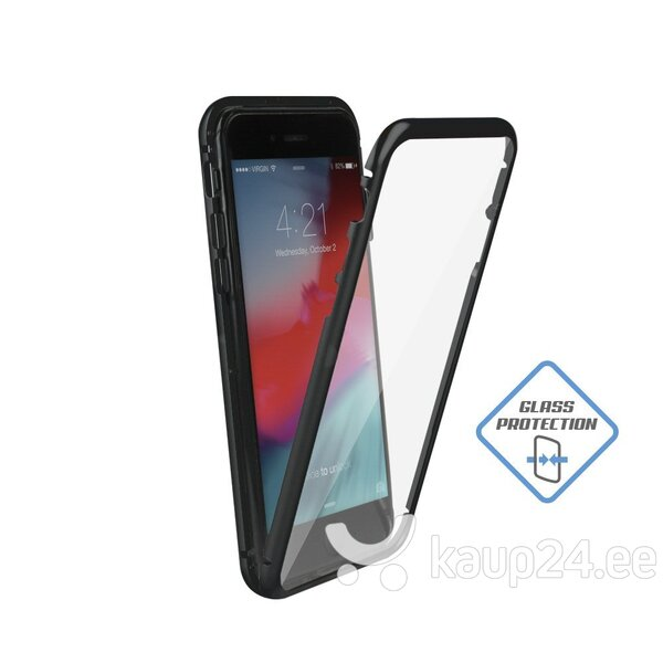 Mocco Double Side Aluminum Case 360 With Tempered Glass For Apple iPhone 6 / 6S Transparent - Black soodsam