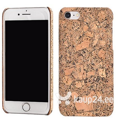 Mocco Cork Plastic Back Case for Apple iPhone 7 / 8 Brown hind
