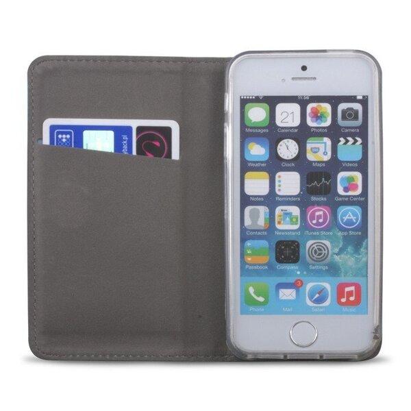Telefoniümbris Mocco Smart Magnet Book, telefonile Samsung Galaxy S10e, kuldne tagasiside