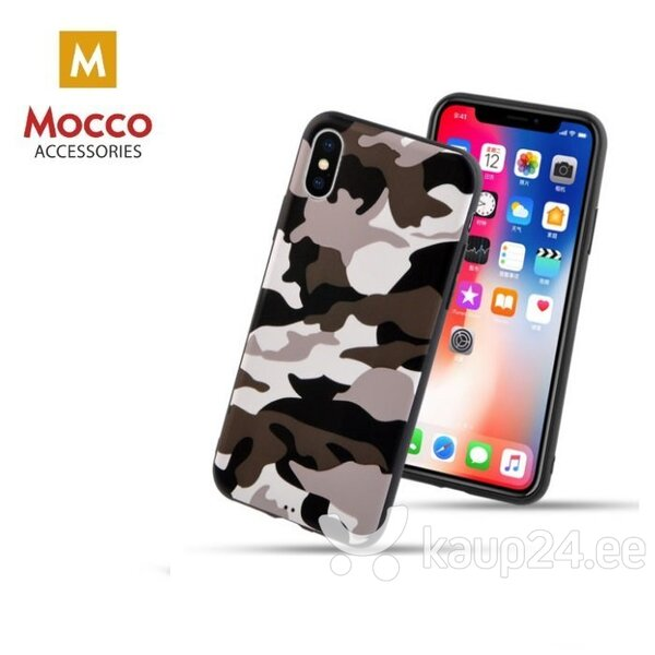 Mocco Ultra Back Case Silicone Case for Apple iPhone X / XS Army hind ja info | Telefoni kaaned, ümbrised | kaup24.ee