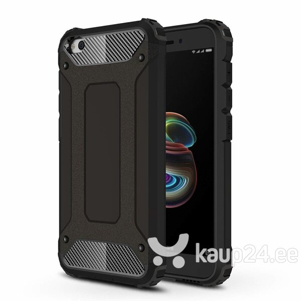 Hybrid Armor Case Tough Rugged Cover for Xiaomi Redmi Go black hind ja info | Telefoni kaaned, ümbrised | kaup24.ee