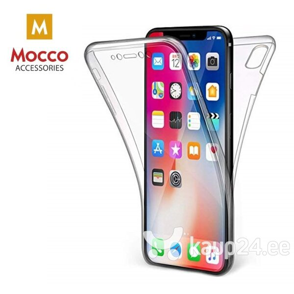 Mocco Double Side Case 360 Case for Apple iPhone XS Max Transparent hind ja info | Telefoni kaaned, ümbrised | kaup24.ee