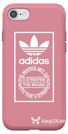 Adidas Snap Case Silicone Case for Apple iPhone 7 / 8 Pink (EU Blister) hind ja info | Telefoni kaaned, ümbrised | kaup24.ee