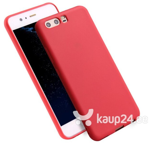 Mocco Ultra Slim Soft Matte 0.3 mm Silicone Case for Huawei P8 Lite / P9 Lite (2017) Red Internetist