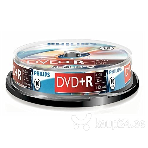 Philips DVD+R 4.7GB CAKE BOX 10