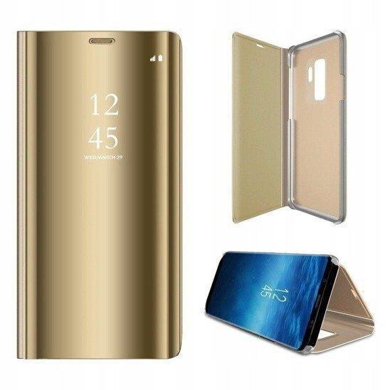 Telefoniümbris Mocco Clear View, telefonile Samsung N970 Galaxy Note 10, kuldne soodsam