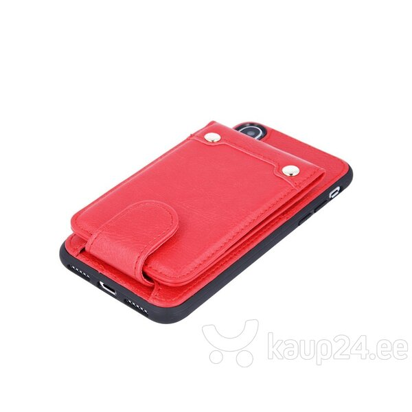 Mocco Smart Wallet Eco Leather Case - Card Holder For Apple iPhone 6 / iPhone 6S Red hind