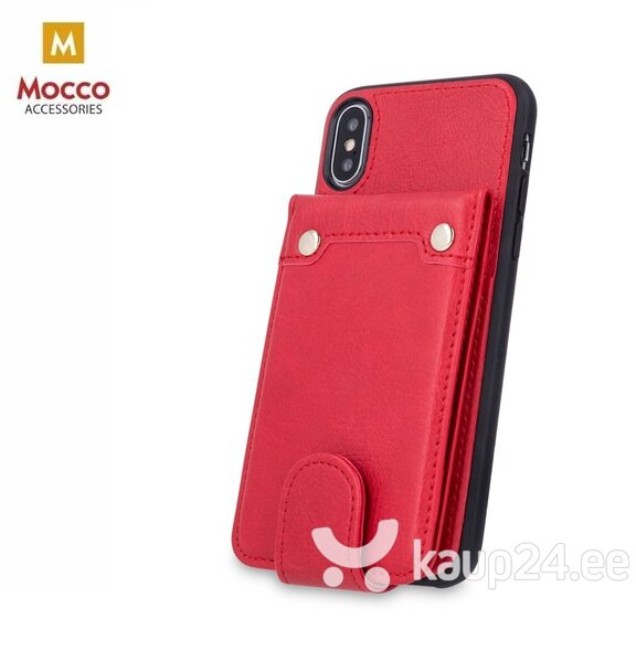 Mocco Smart Wallet Eco Leather Case - Card Holder For Apple iPhone 6 / iPhone 6S Red hind ja info | Telefoni kaaned, ümbrised | kaup24.ee