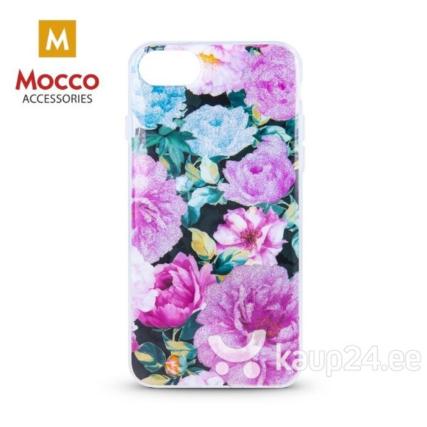 Mocco Spring Case Silicone Back Case for Apple iPhone XS Max (Pink Peonies) hind ja info | Telefoni kaaned, ümbrised | kaup24.ee