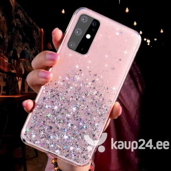 Silikoonist telefoniümbris Fusion Glue Glitter Back Case Apple iPhone 12 Mini, roosa Internetist