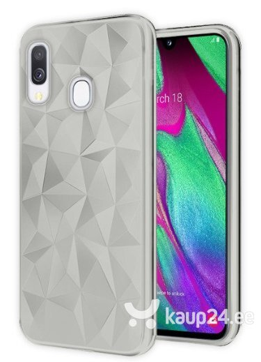 Mocco Trendy Diamonds Silicone Back Case for Samsung A705 Galaxy A70 Transparent hind
