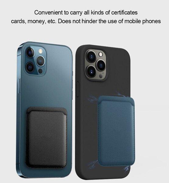iPhone 12 Pro Max 12/12 Mini Fayaha nahast, magnetkaardi ümbris hind