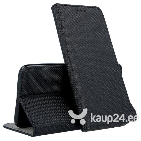 Mocco Smart Magnet Book Case For LG G8 / LG G8 ThinQ Black tagasiside