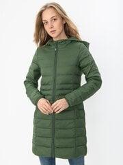 Naiste sünteetiline mantel Vero Moda, roheline hind ja info | Naiste mantlid | kaup24.ee