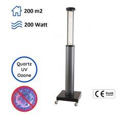 Antibakteriaalne ultraviolet kvartslamp UVC 200W hind ja info | Kaitseseinad, desinfitseerimis seadmed | kaup24.ee