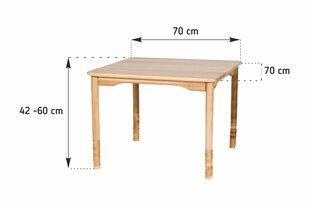 Reguleeritava kõrgusega lastelaud, 42-60 cm, pruun hind ja info | Laste lauad ja toolid | kaup24.ee