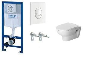WC komplekt Grohe Rapid SL 3in1 koos nupuga Skate Air+DuraStyle Basic hind ja info | WС-potid | kaup24.ee