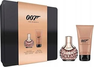 Komplekt James Bond 007 For Women II: EDP naistele, 30 ml + ihupiim, 50 ml hind ja info | Komplekt James Bond 007 For Women II: EDP naistele, 30 ml + ihupiim, 50 ml | kaup24.ee