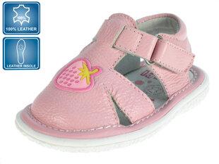 Tüdrukute sandaalid nahast Beppi 19-23, roosa hind ja info | Imikute riided | kaup24.ee