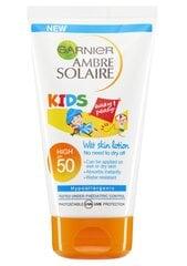Laste kaitsev kehapiim Garnier Ambre Solaire SPF50 150 ml hind ja info | Päikesekaitse SPF | kaup24.ee