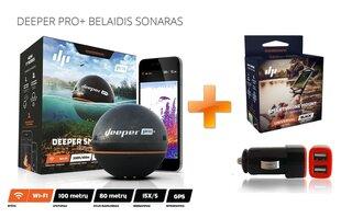 Sonar Deeper Pro+ Fishfinder (WiFi, GPS) + KINGITUS