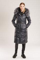 Mantel naturaalsest karusnahast kapuutsiga hind ja info | Naiste joped | kaup24.ee
