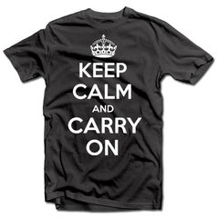 Meeste T-särk, KEEP CALM AND CARRY ON