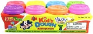 Пластилин Kids Dough Neon, 8 цветов