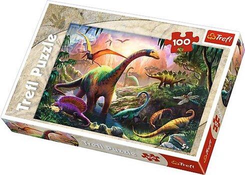 Pusle Dinosaurus Trefl, 100 detaili hind ja info | Pusled | kaup24.ee