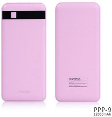 Akupank Remax Proda 12000mAh Power Bank + Led valgustus, roosa