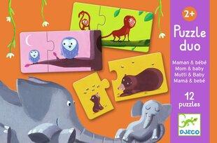 Duo pusled – Ema ja laps, Djeco DJ08157 hind ja info | Imikute mänguasjad | kaup24.ee