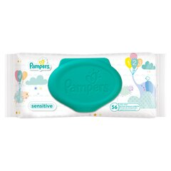 Niisked salvrätikud Pampers Baby Wipes Sensitive, 56 tk.