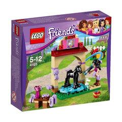 Klotsid LEGO™ Friends Foal's Washing Station 41123 hind ja info | Kokkupandavad mänguasjad | kaup24.ee