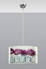 Rippvalgusti Emibig Shades, valge/lilla tulp