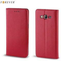 Kaitseümbris Forever Smart Magnetic Fix Book sobib Microsoft 550 Lumia, punane