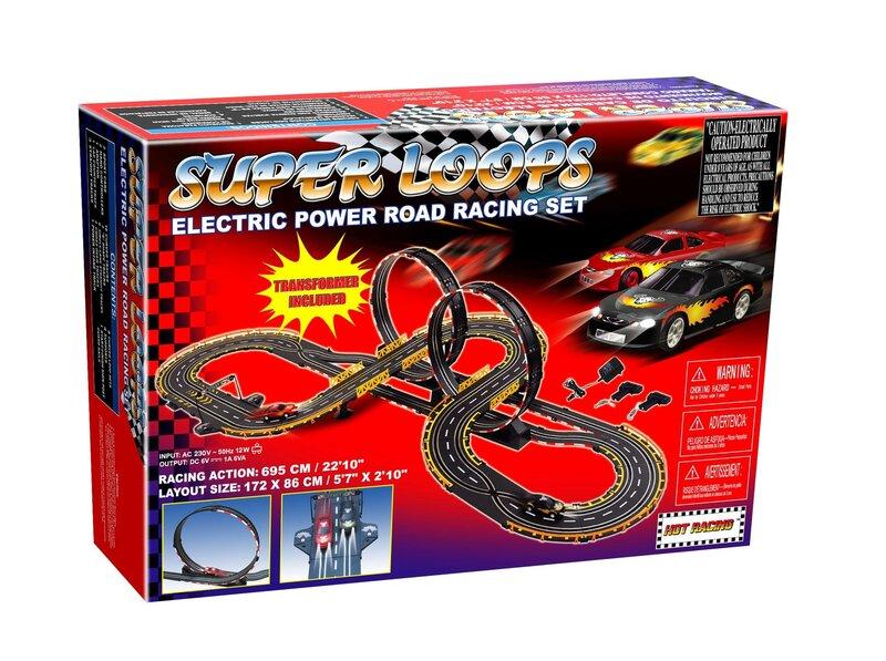 Võidusõiduraja komplekt Golden Bright Electric Power Super Loops Road 6656 hind ja info | Poiste mänguasjad | kaup24.ee