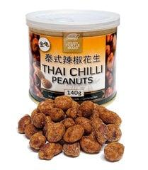 Maapähklid Tai tšilliga, Golden Turtle Brand, 140g hind ja info | Pähklid, seemned, kuivatatud puuviljad | kaup24.ee