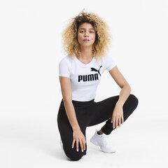 Naiste vabaaja T-särk Puma ESS + Fitted Tee Puma 58139802, valge hind ja info | Naiste T-särgid | kaup24.ee