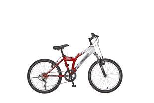 Noorte/laste mägijalgratas Leader Jett FSF valge/punane