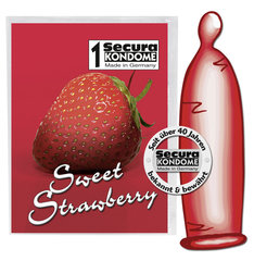 Kondoom Sweet Strawberry Secura, 1 tk