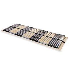 vidaXL lippidega voodi aluspõhi, 42 liistu, 7 piirkonda, 80 x 200 cm hind ja info | Voodipõhjad ja voodijalad | kaup24.ee
