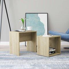 vidaXL kohvilaudade komplekt, Sonoma tamm, 48x30x45 cm puitlaastplaat hind ja info | Diivanilauad | kaup24.ee