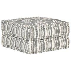 vidaXL tumba, 60 x 70 x 36 cm, hallitriibuline, kangas hind ja info | Kott-toolid, tumbad, järid | kaup24.ee