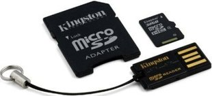 Kingston 32GB Micro SDHC 10 Class + SD adapter + USB reader