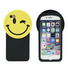 Kaitseümbris Zooky sobib Apple iPhone 6/6S, 3D Smile, must/kollane