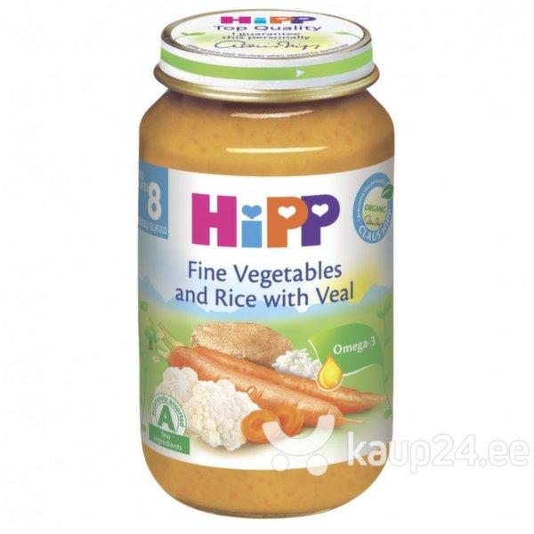 Köögiviljapüree vasikalihaga HIPP BIO 220 g, alates 8 kuud