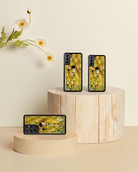 Telefoniümbris iKins K6840J telefonile Samsung Galaxy S21, kollane Internetist