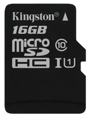 Mälukaart Kingston microSDHC (G2) 16 GB, klass 10